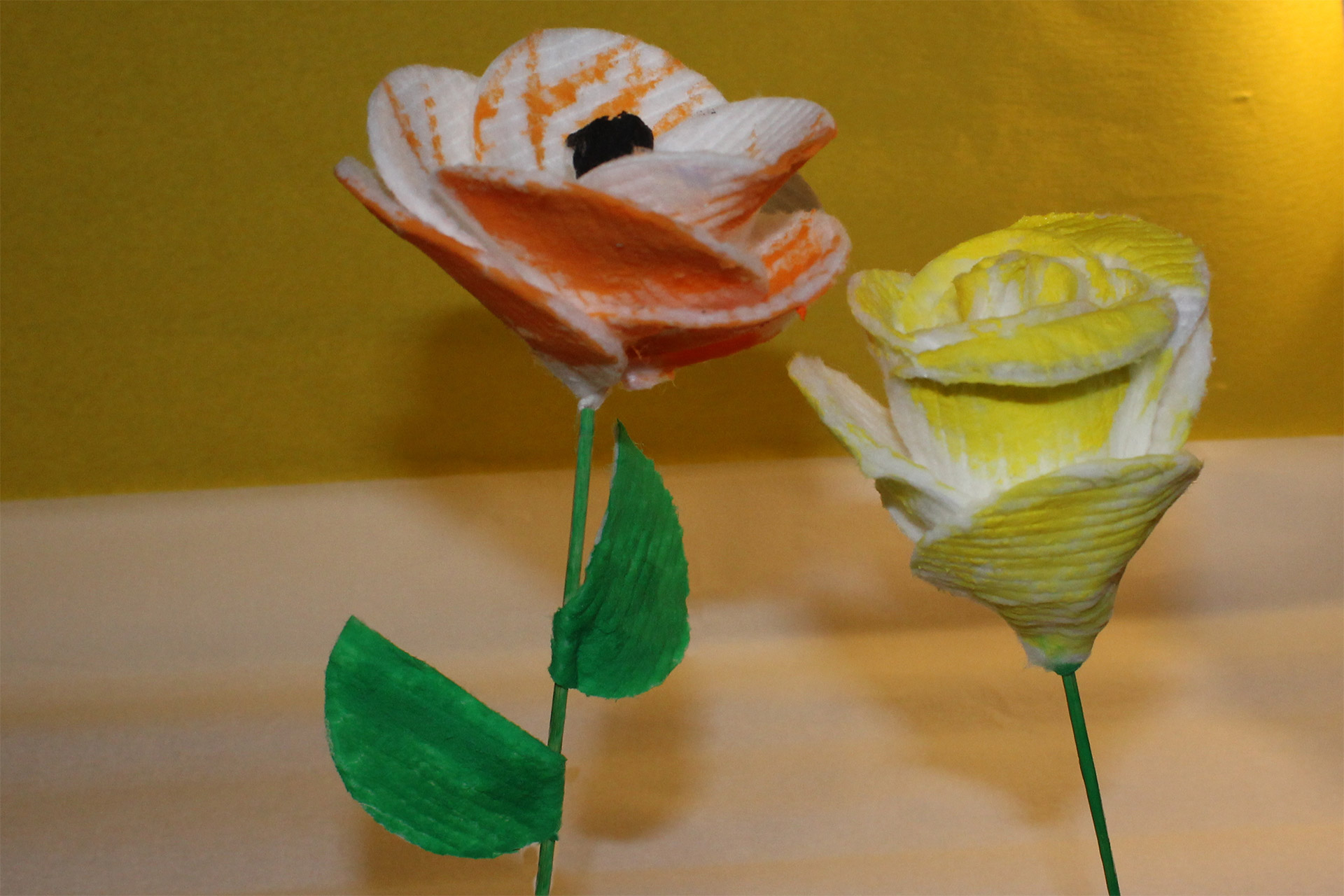 Jak zrobić kwiaty z wacików?