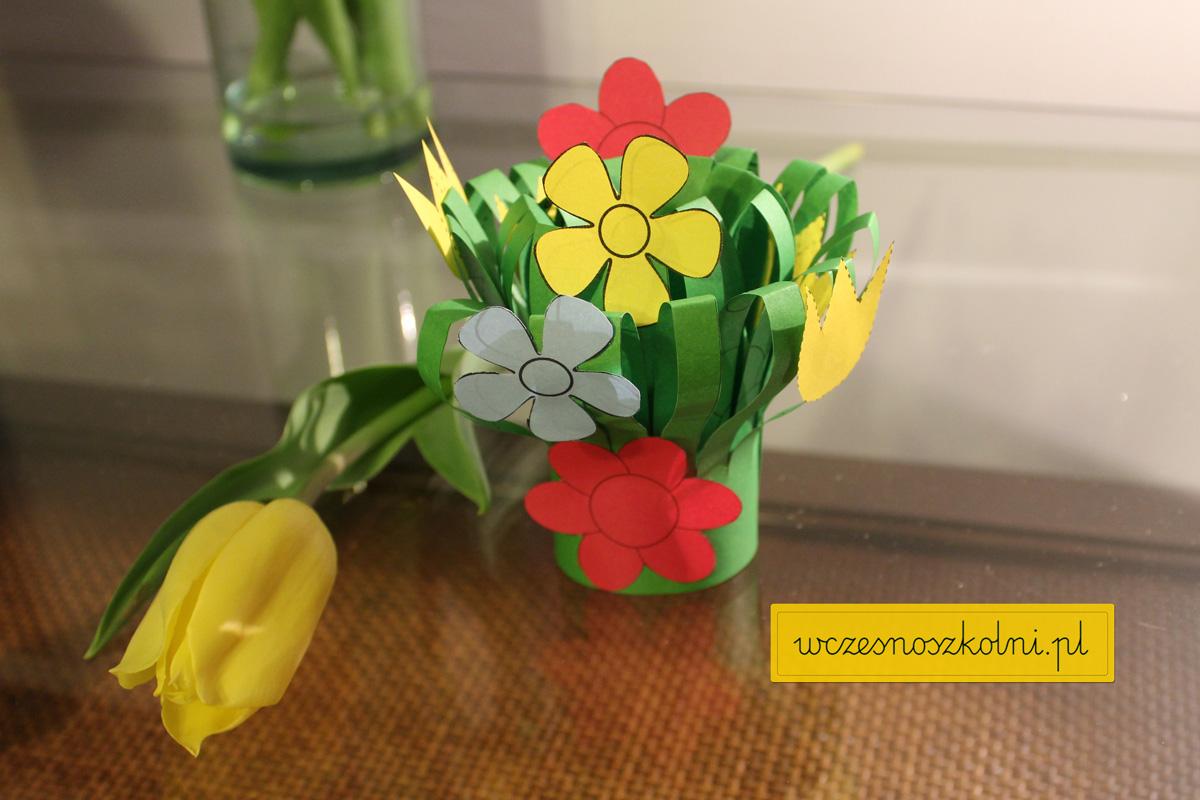 Papierowy bukiet kwiatów