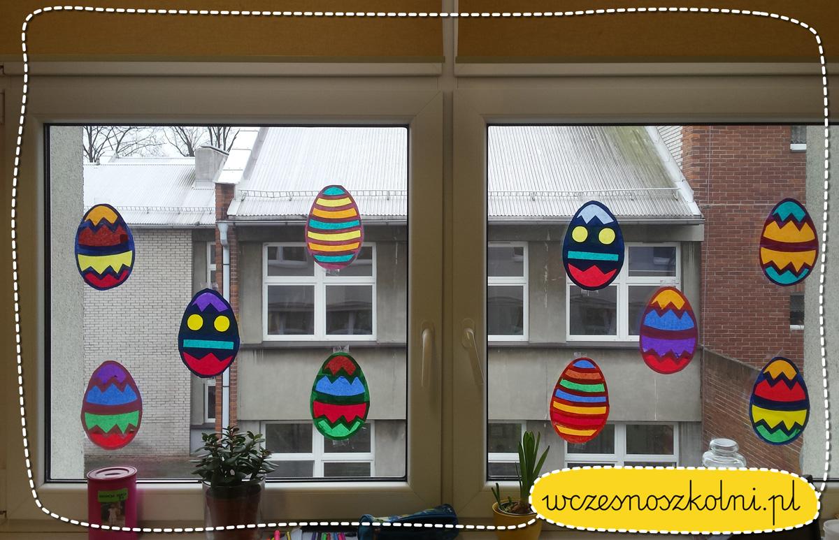 Wielkanocne pisanki w formie witraży
