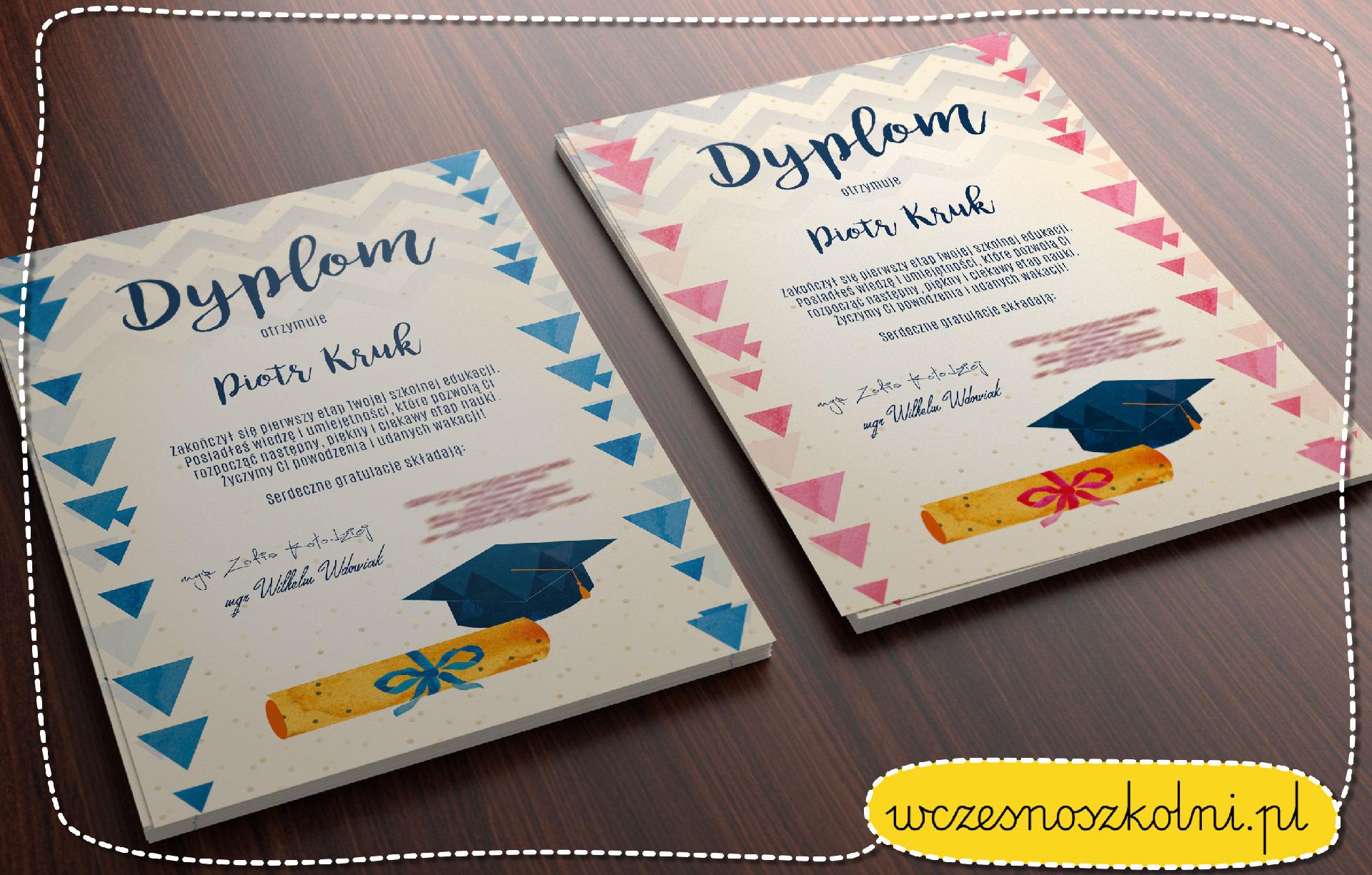 Dyplom na zakończenie szkoły