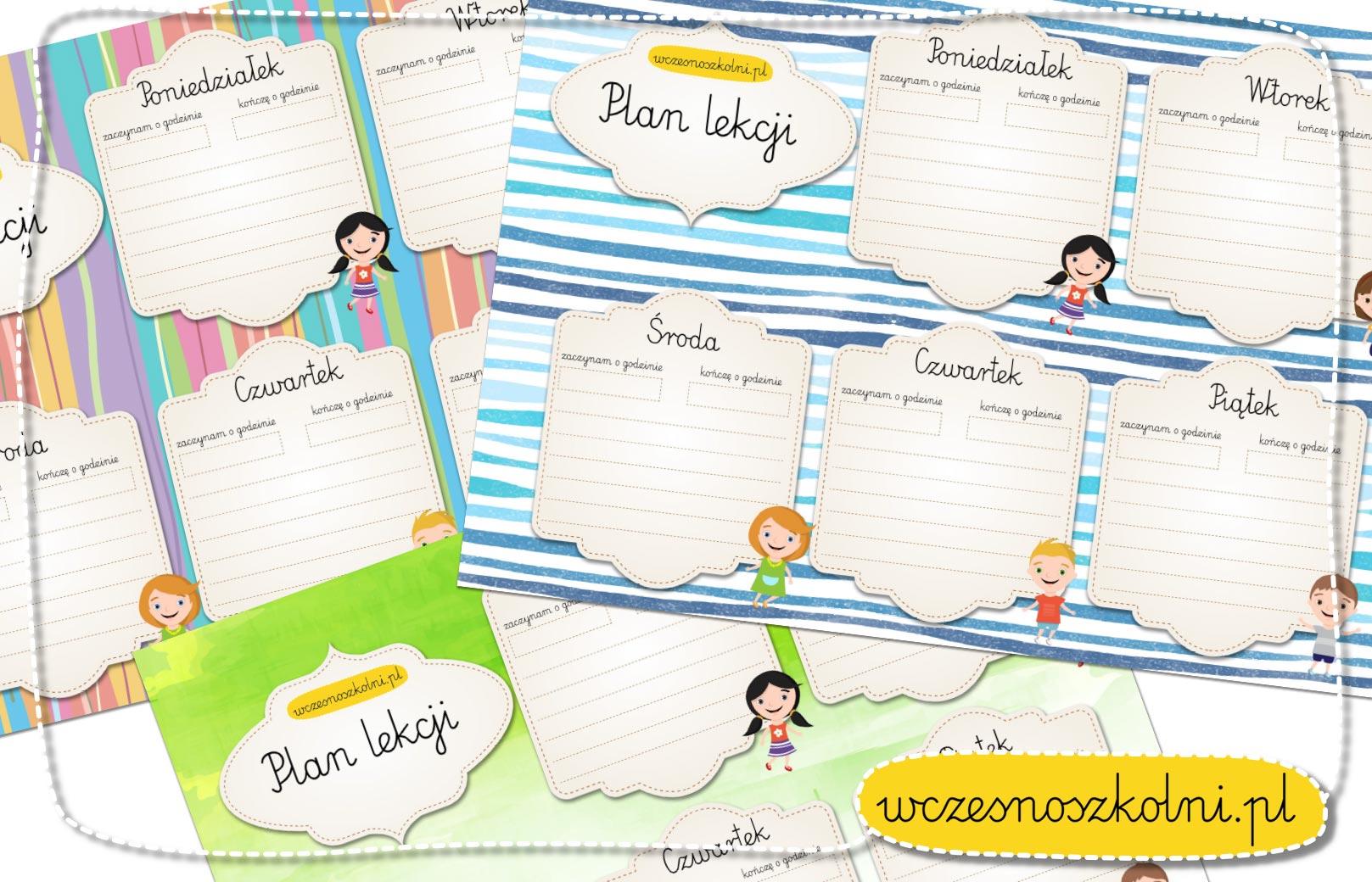 Plan lekcji - szablon