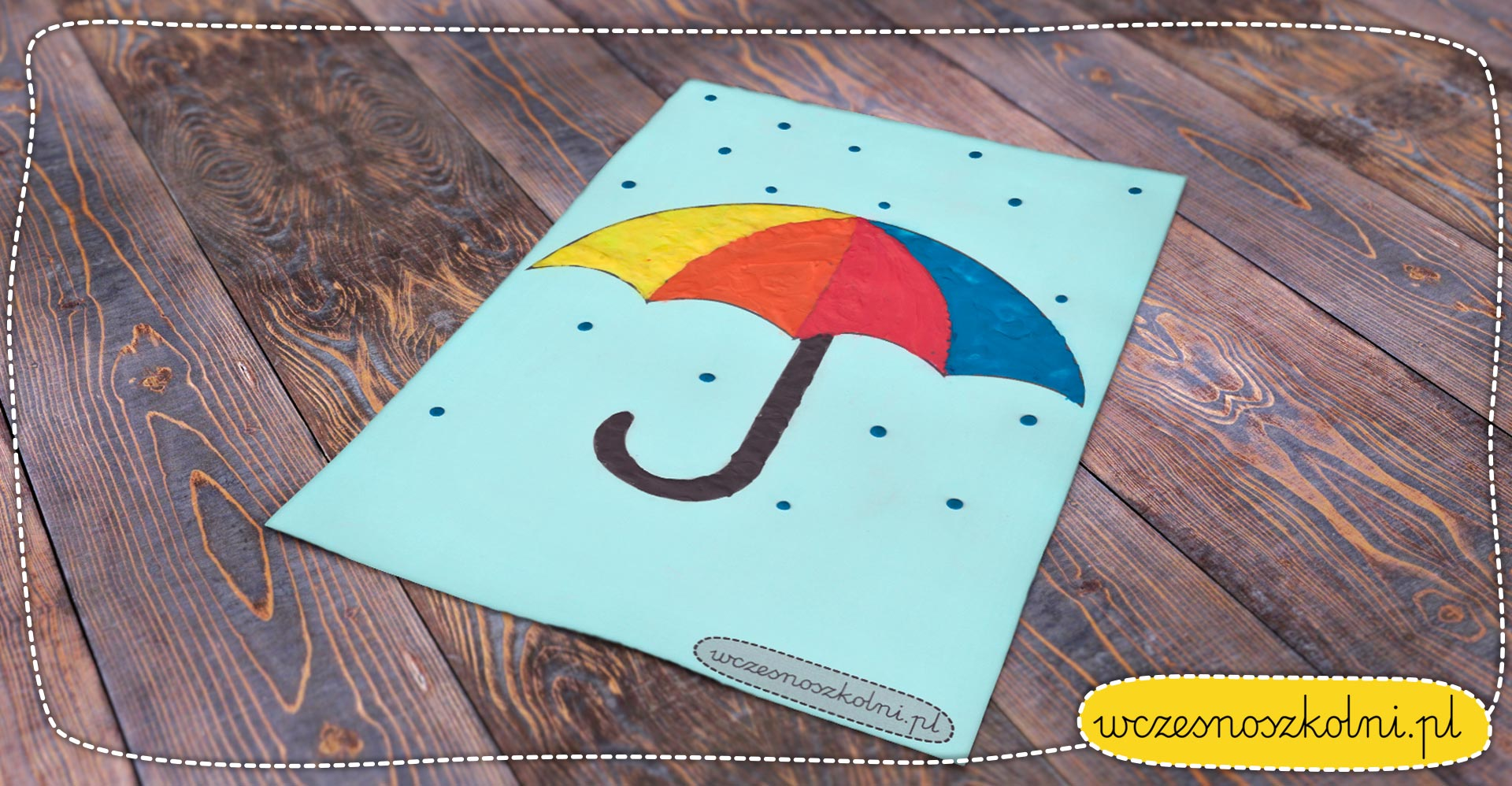 Parasolki z plasteliny