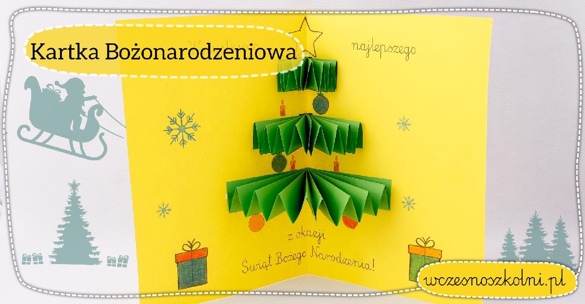 Kartka Bożonarodzeniowa dla dzieci