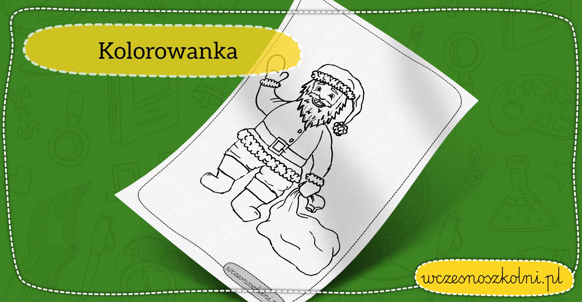 Mikołaj - kolorowanka dla dzieci